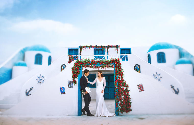 娜美影像 欧式婚纱照-浪漫不将就I地中海圣托里尼