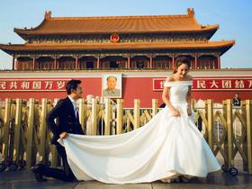 「玫瑰星座」 北京天安门系列婚纱照