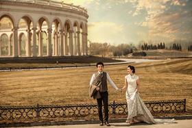 欧美建筑婚纱照