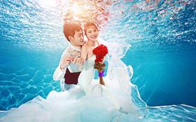 【白纱糖】--梦幻水下婚纱照