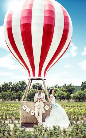 【白纱糖】--罗湖畔公园 热气球创意婚纱照