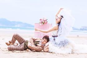 【白纱糖】--三亚小清新婚纱照