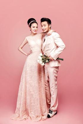 【白纱糖】--单色经典 时尚粉色婚纱照