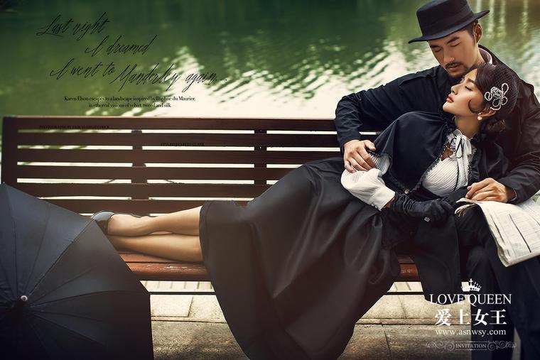 时尚婚纱照【爱上女王】凡尔赛玫瑰