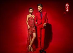 红色简约主题婚纱照全新系列