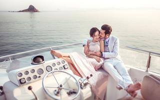 【游艇婚纱照】爱在深海