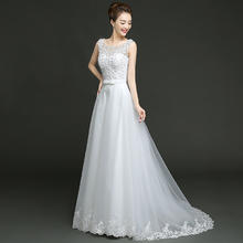 婚纱礼服新娘2017新款韩式双肩婚礼小拖尾结婚简约修身