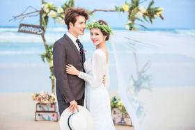 海景婚纱照 永恒美婚纱摄影—聆听海声