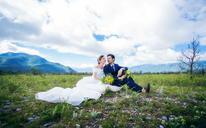 唯美风 #波西米亚旅拍婚纱摄影# 丽江 雪山远景