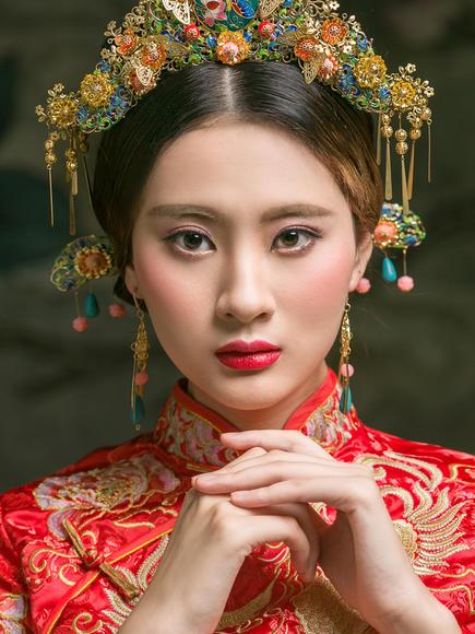 中国风复古婚纱照