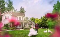 欧式小清新婚纱照 浪漫庭院