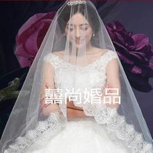 公主头纱韩式韩版甜美2016春季新款蕾丝花仙头纱3米206
