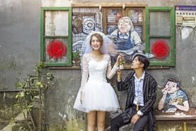 【镜花堂摄影】城市旅拍文艺婚纱照系列——[下浩街·索道]