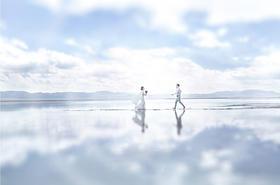 青海盐湖 唯美婚纱照