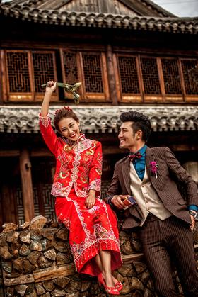 秀禾服中式复古婚纱照