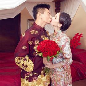 吴奇隆明星结婚礼同款套装男装秀禾服龙凤褂新娘中式礼服敬酒服