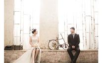 韩式婚纱照 真实客照~王先生和刘女士18寸水晶相册