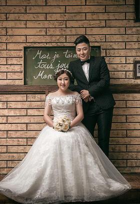 胖新娘婚纱照 秦先生和琅琅女士~18寸水晶册