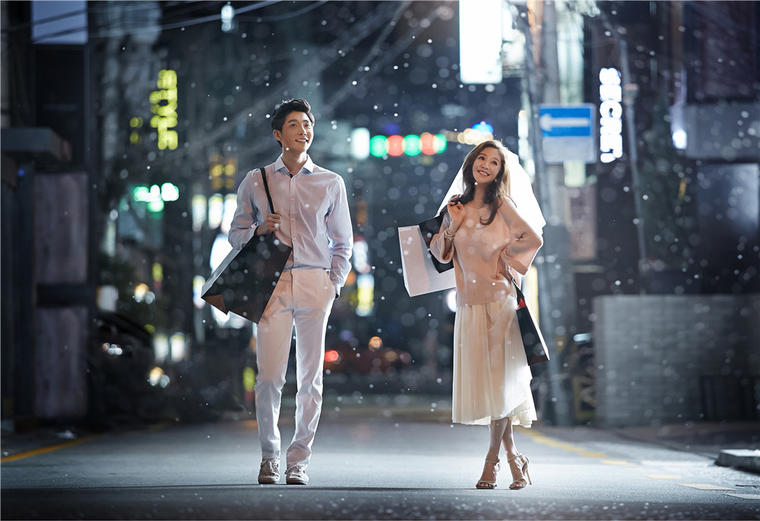 【雪景婚纱照】阜阳金夫人八月韩国摄影师驻店拍摄!