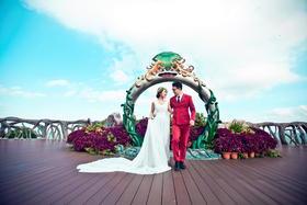 #波西米亚旅拍婚纱摄影# 三亚小清新唯美婚纱照 呀诺达风景区