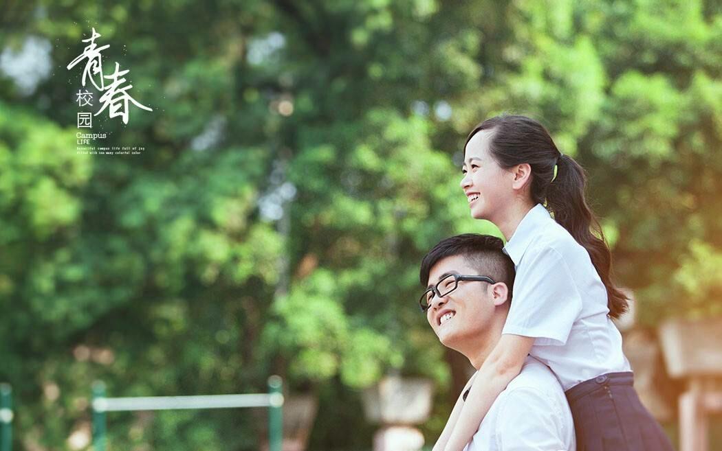 小清新校园婚纱照