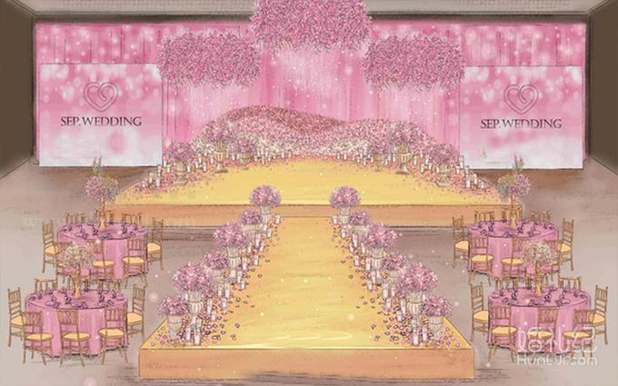 花墙平面设计图 婚礼