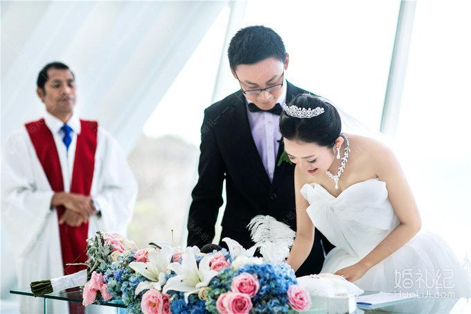巴厘岛悦榕庄白鸽教堂婚礼客片