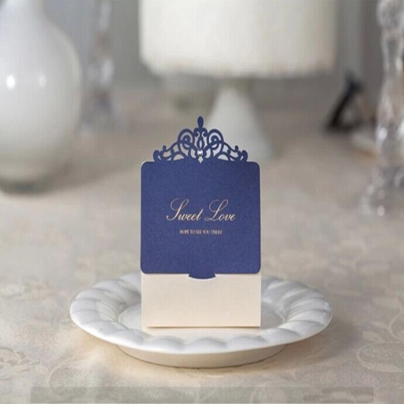 定制 唯思美新款欧式韩式生日结婚喜糖盒子创意婚礼糖盒深宝蓝色