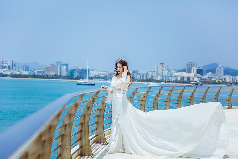 送给【张先生 刘小姐】唯美海景婚纱照