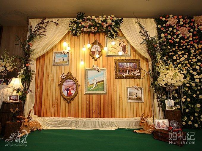 森系完美主题婚礼图片