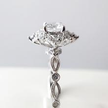 绽放-梵尼洛芙珠宝-洛可可女王系列(独家设计款)钻戒定制戒托