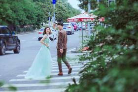 小清新游艇婚纱照