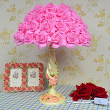 时尚浪漫玫瑰花台灯婚庆婚房台灯结婚礼物礼品台灯卧室床头装饰灯