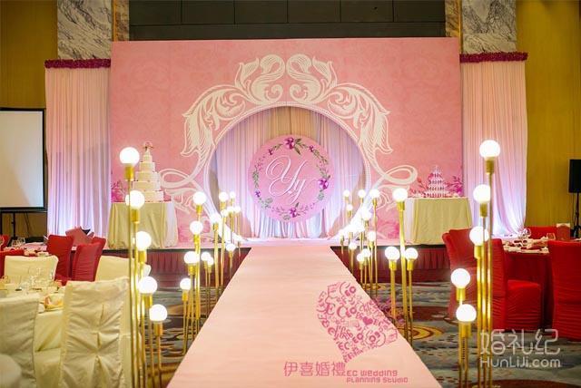 梦幻粉色主题婚礼