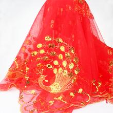 【满30元包邮】结婚用品新娘亮片红头盖 结婚盖头大红盖头