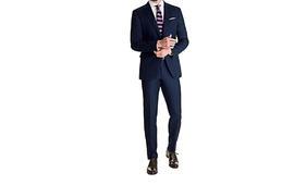 华名人高级西装定制 修身西服套装 结婚西服礼服款