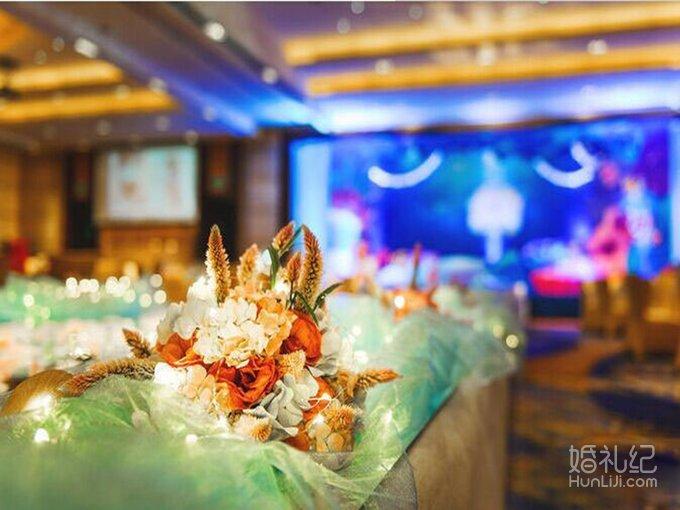 海洋蓝主题婚礼,婚礼策划作品,婚礼纪 hunliji.com
