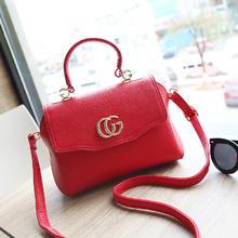 新款韩版小方包红色新娘包单肩斜挎手提小包包