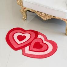 【包邮】红色心形地毯婚房门垫