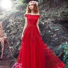 新款红色新娘结婚礼服敬酒服