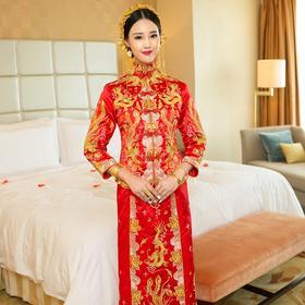 大五福龙凤褂秀禾服新娘礼服中式复古嫁衣敬酒服旗袍XH608