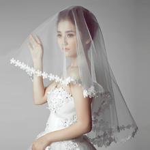 韩式简约风白色蕾丝新娘头饰结婚配饰品