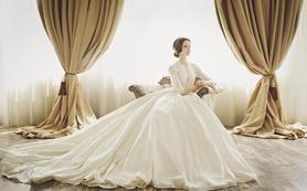 【丽莎皇宫】韩式优雅长拖尾婚纱