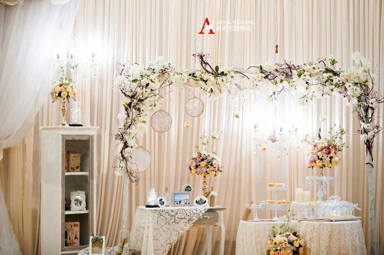 【亚诺婚礼】●韩式白色浅香槟色套餐