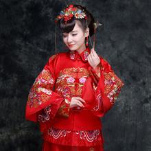 下单减20送头饰耳环●秀禾服复古中式新娘礼服喜服结婚敬酒服