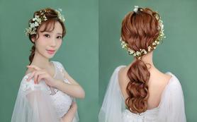 韩式清新甜美新娘造型