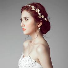 新娘头饰耳环套装韩式婚纱配饰头花新款婚礼发饰结婚饰品