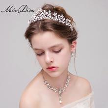 新娘头饰皇冠项链耳饰三件套装 韩式结婚发饰配饰品