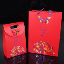 蝶之恋手提礼品袋 结婚用品回礼袋 婚庆回礼糖盒 大号喜糖果