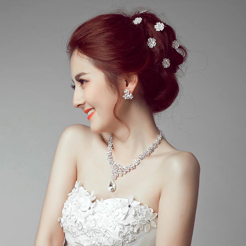 满88元,包新娘头饰韩式盘发小发簪u型夹婚纱发饰配饰图片